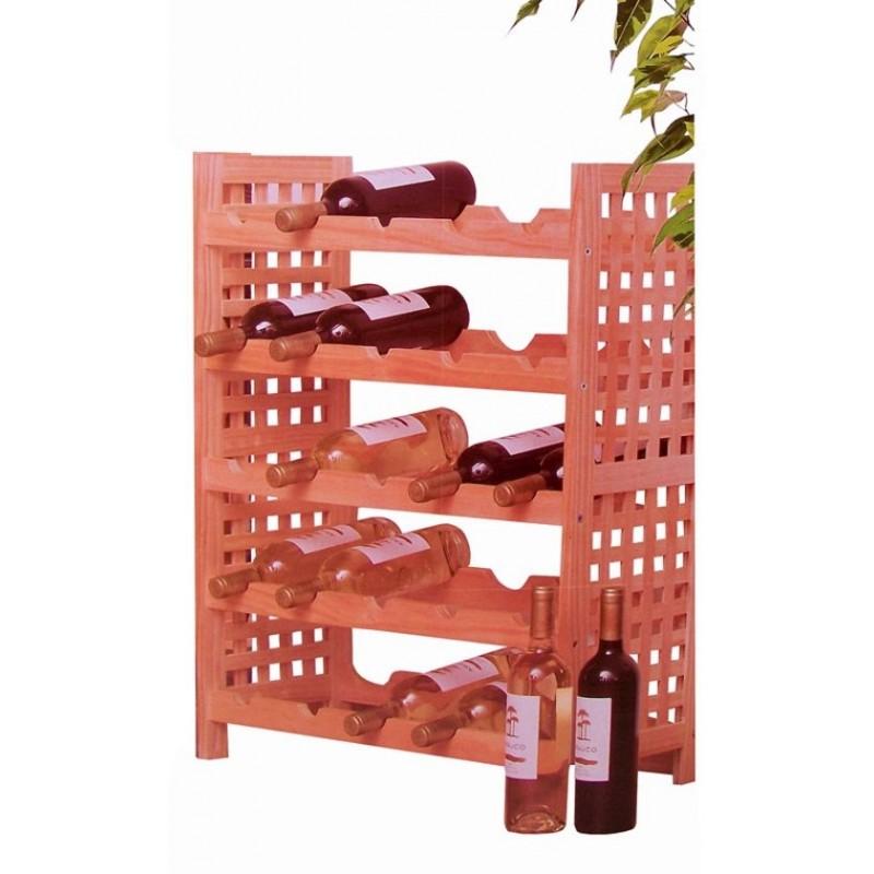 weinregal aus holz f r 25 flaschen. Black Bedroom Furniture Sets. Home Design Ideas
