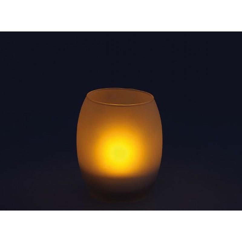 essentielle deco milchglas led kerzenhalter. Black Bedroom Furniture Sets. Home Design Ideas