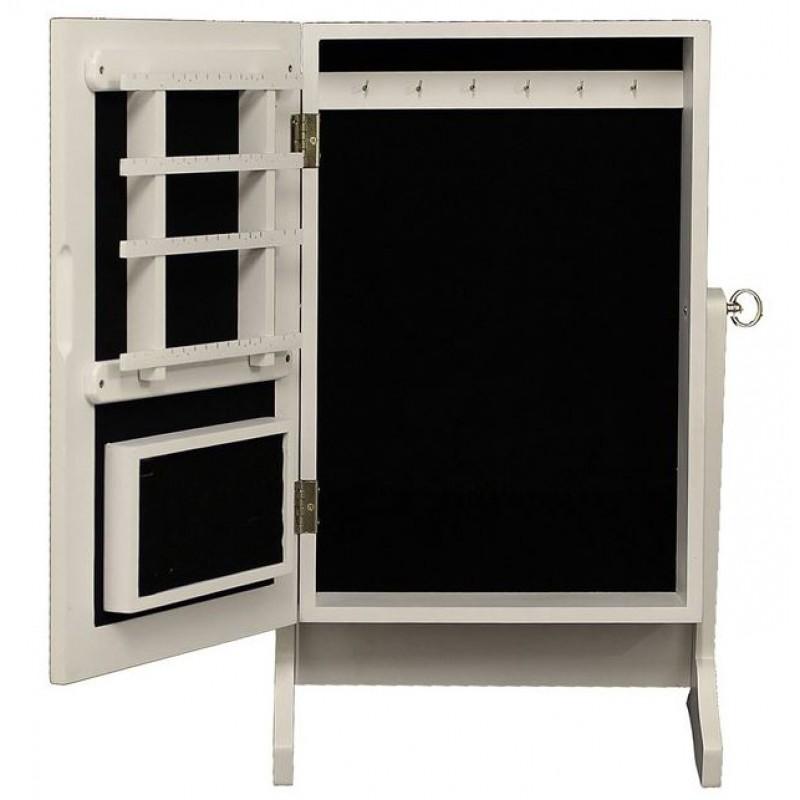 schmuckschrank mit spiegel. Black Bedroom Furniture Sets. Home Design Ideas