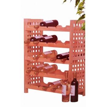 Weinregal aus Holz für 25 Flaschen