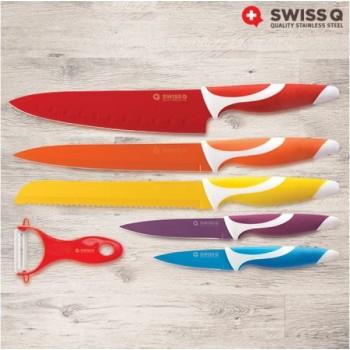Swiss Q Keramisches Gecoate Messerset