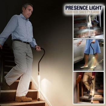 Presence Light Gehstock mit Licht